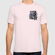 Sweatpants and Breakfast for Dinner Mens Fitted Tee Light Pink MEDIUM