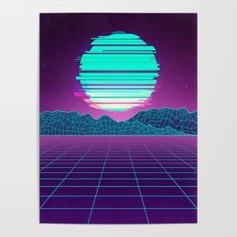 The Future World Synthwave  Poster