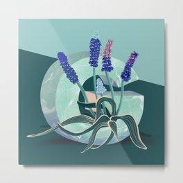 Vase G Grape Hyacinth Metal Print