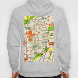 Jerusalem Map Design Hoody
