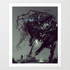 Frankenstein Titan Bot Art Print