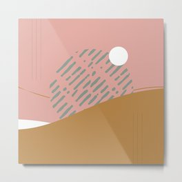 Hand drawn Geometric Line Pattern IV Metal Print