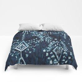 SATELLITE TRIBAL - INDIGO Comforters