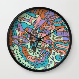 Tear My Heart Out (Orchid) Wall Clock