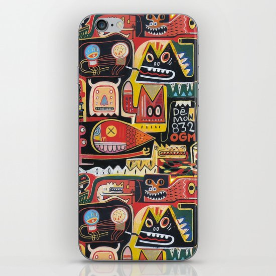 Mutant pop corn iPhone & iPod Skin
