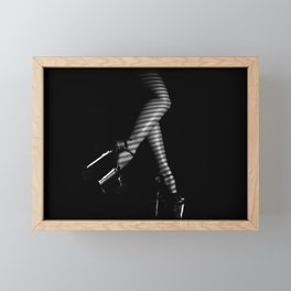 Sexy legs in high platform heels Framed Mini Art Print