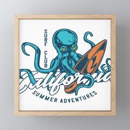 California Surf Club Framed Mini Art Print