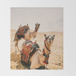 Camels Throw Blanket
