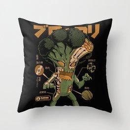 Broccozilla X-ray Throw Pillow