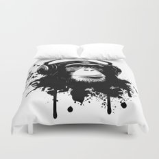 Monkey Business - White Duvet Cover