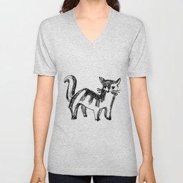 Striped Cat Unisex V-Neck