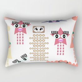 Monsters pattern 4 Rectangular Pillow