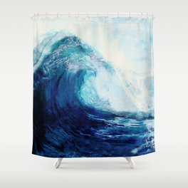 Waves II Shower Curtain