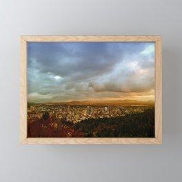 DOWNTOWN PORTLAND - FALL Framed Mini Art Print