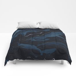 Abstract Astronomy in Dark Blue Comforters