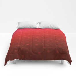 Red Tone on Tone Dots Pattern Comforters
