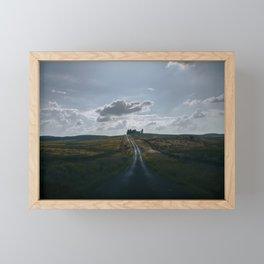 Winding road in England vast landscape Framed Mini Art Print