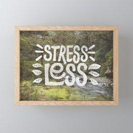 Stress Less Framed Mini Art Print