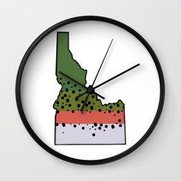 Idaho Rainbow Trout Wall Clock