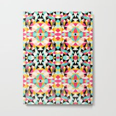 Kawaii Tribal Metal Print