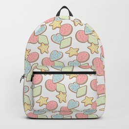 The Shape of Cookies (on gray) Backpack