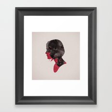 Scary thoughts. Framed Art Print