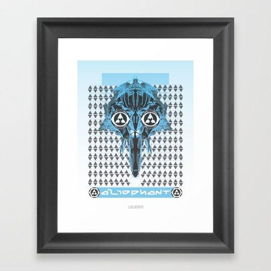 aliephant Framed Art Print
