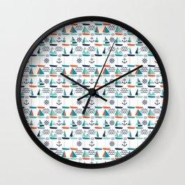 Sailboat Pattern Wall Clock