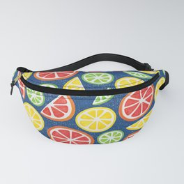 Vitamin C Super Boost - Citric Fruits on Blue Fanny Pack