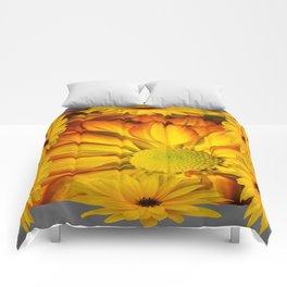 GOLDEN YELLOW SUNFLOWERS ART Comforters
