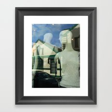 Mannequin Window Framed Art Print