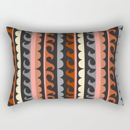 Wavy lines and bubbles Rectangular Pillow