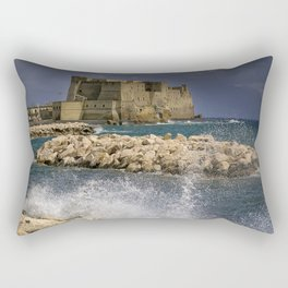 Napoli. Waves on the rocks. Rectangular Pillow