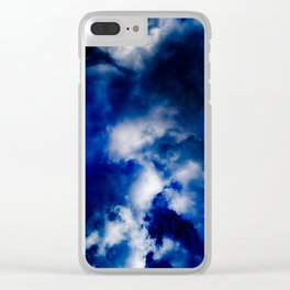 Deepest Blue Clear iPhone Case