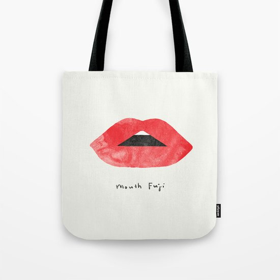 Mouth Fuji Tote Bag