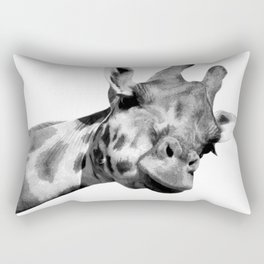 Black and white giraffe Rectangular Pillow
