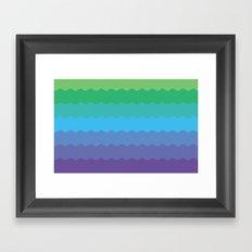 Waves 1 Framed Art Print