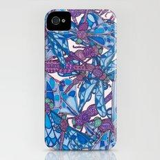 Dragonfly Disco (purple) Slim Case iPhone (4, 4s)