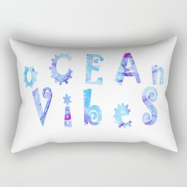 oCEAn VibeS   Tropical Cyan Teal & Magenta Watercolor Rectangular Pillow