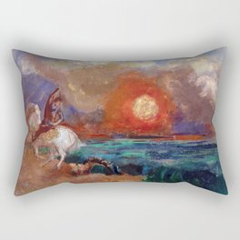 Saint George and the Dragon by Odilon Redon Rectangular Pillow