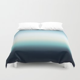 ocean sky color gradient  - blue , white , black Duvet Cover