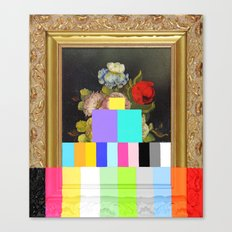 A Painting of Flowers With Color Bars Canvas Print