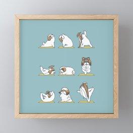 Shih Tzu Yoga Framed Mini Art Print