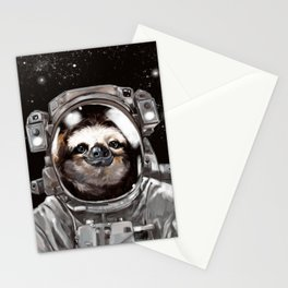 Astronaut Sloth Selfie Stationery Cards