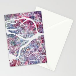 Saint Petersburg map Stationery Cards