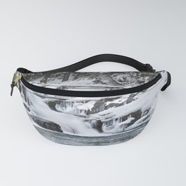 Winter Waterfall - Glacier National Park Fanny Pack