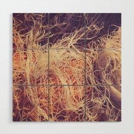 Crumpled fishnet Wood Wall Art