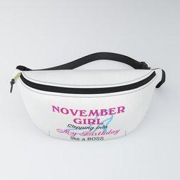 November Girl Birthday Fanny Pack