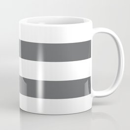 Simply Striped in Storm Gray and White Coffee Mug