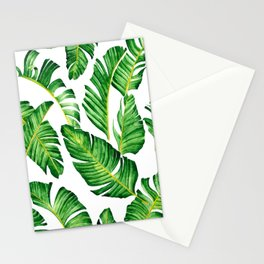 Banana Leaves pattern in watercolor Stationery Cards